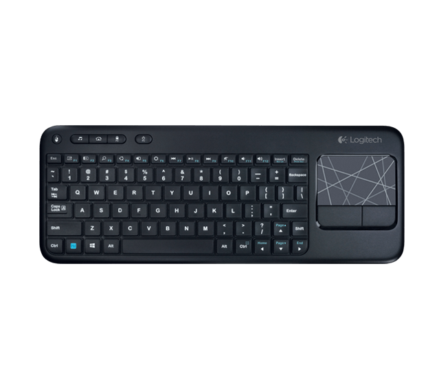 Teclado Com Touch Pad Wireless Preto Logitech Touch K400