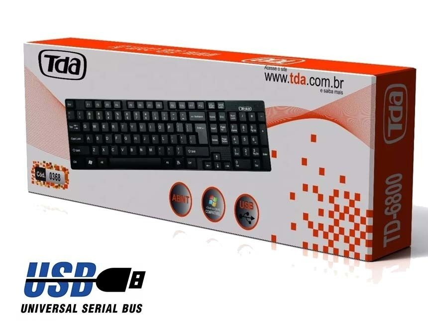 Teclado Usb Slim Tda Td-6800 Preto