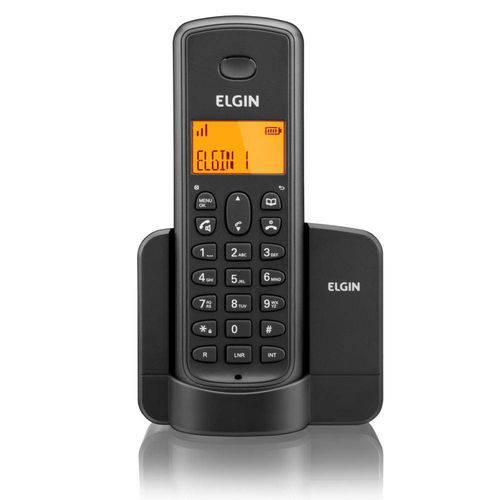 Telefone S  Fio Elgin Tsf 8001 Ident De Chamada Viva Voz Preto
