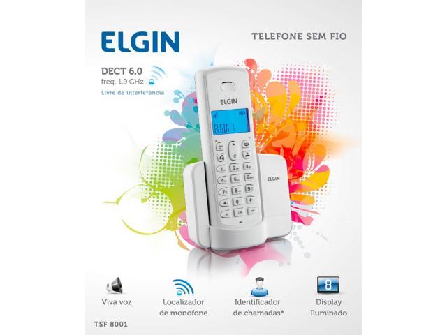 Telefone Sem Fio Elgin Tsf8001 Com Viva-Voz| Identificador| Branco