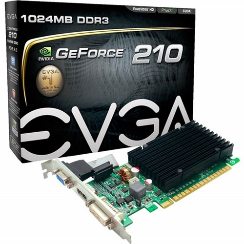 VGA PCI-E 1GB EVGA GEFORCE GT210