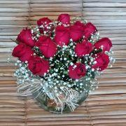 Rosas no vidro