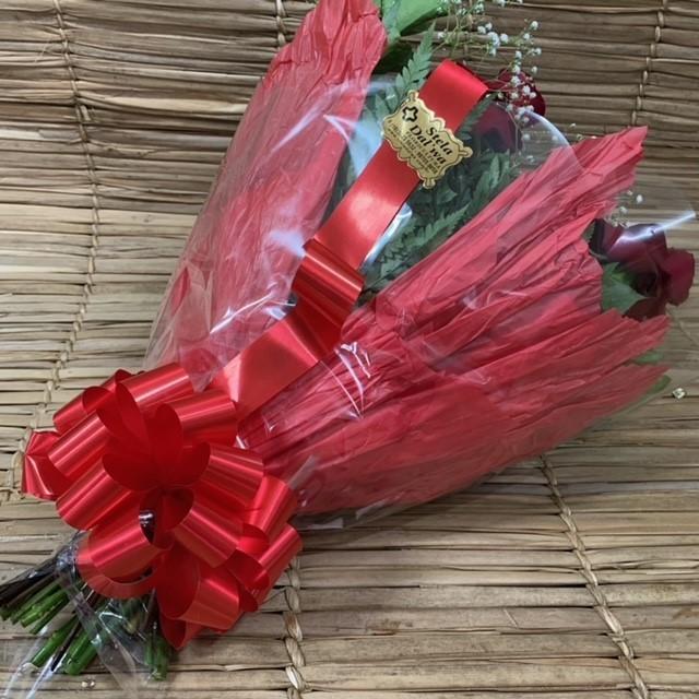 Buquê 6 rosas colombianas vermelhas