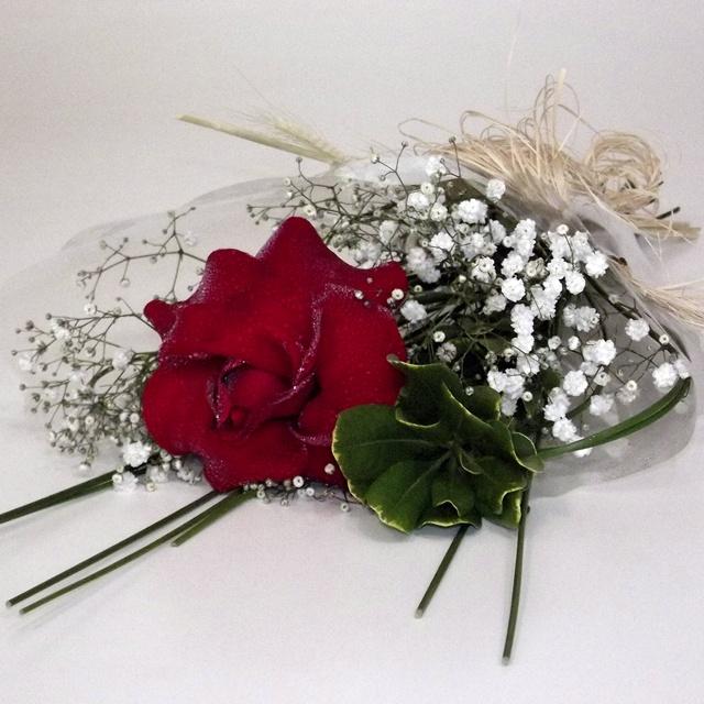 Buquê 1 rosa colombiana vermelha