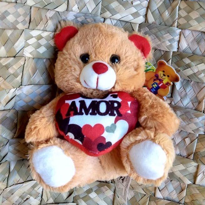"""Urso Pelúcia FE6799 """"Amor"""""""