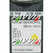 Agulha 134 R ou DPx5 R 180/24 GROZ-BECKERT   Caixa com 100 unidades