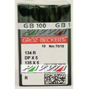 Agulha 134 R ou DPx5 R .70/10 GROZ-BECKERT Caixa com 100 unidades