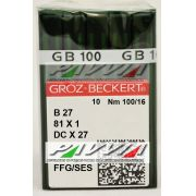Agulha B 27 ou DC X 27 FFG 100/16 GROZ-BECKERT Pacote com 10 unidades