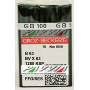 Agulha B 63 ou DV X 63 FFG .65/9 GROZ-BECKERT Pacote com 10 unidades
