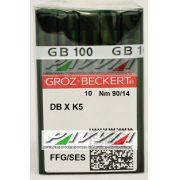 Agulha DBXK5 FFG .90/14 GROZ-BECKERT  Pacote com 10 unidades