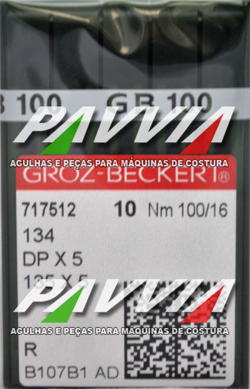 Agulha 134 R ou DPx5 R 100/16  GROZ-BECKERT Pacote com 10 unidades