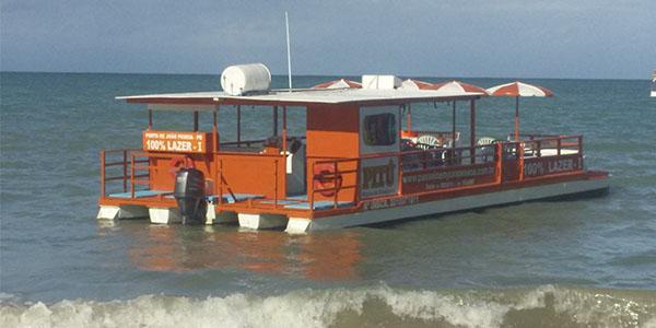 Passeio Areia Vermelha de Barco c/ Transfer-Cabedelo, PB