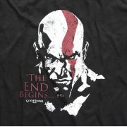 Camiseta God of War Rosto do Kratos