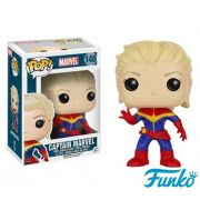 CAPTAIN MARVEL (UNMASKED) - POP VINYL