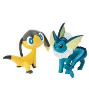 Mini Figuras Pokemon Xy Batalha vaporeon vs helioptile