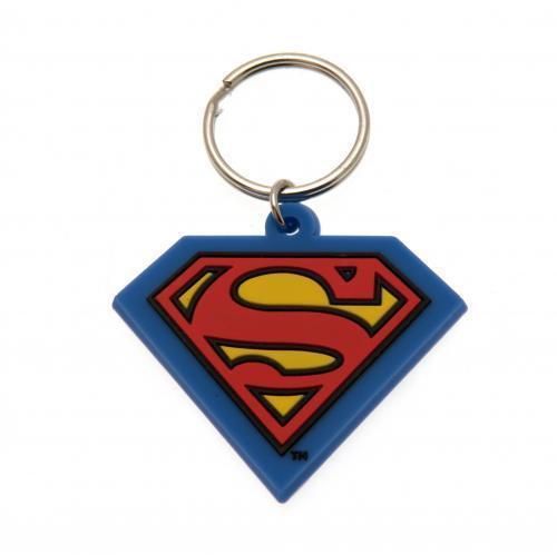 Chaveiro emborrachado Superman Logo Colorido