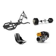Kit Trike Motorizado, Quadro, Garfo, Motor, Embreagem, Banco