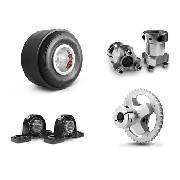 Kit Motorizado, Roda, Capa, Cubo, Mancal, Suporte + Coroa