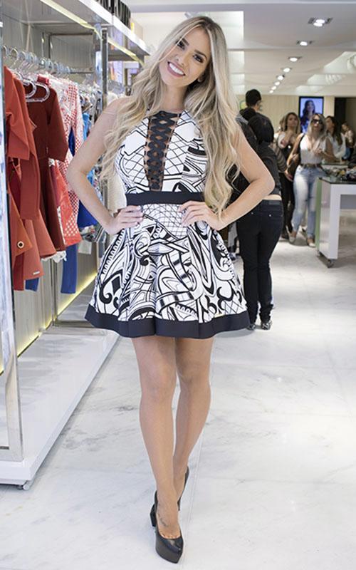 Vestido Jacquard Black & White