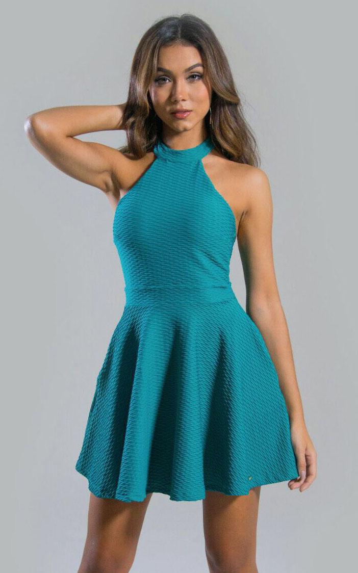 Vestido Liso Rodado