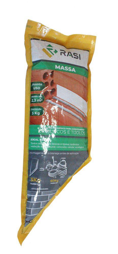 RASI MASSA - Embalagens individual: Bisnaga de 3kg