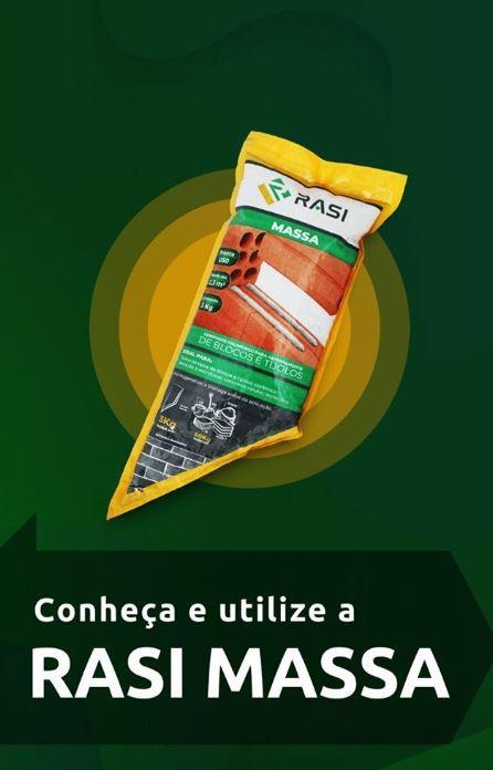RASI MASSA PRONTA |  Argamassa  polimérica pronta para uso: Bisnaga de 3kg