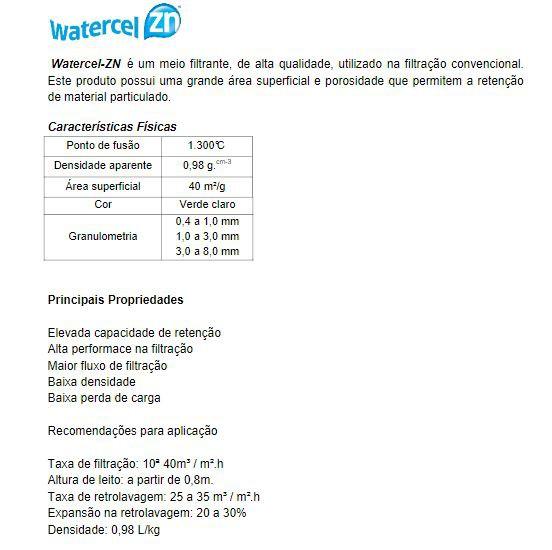 ZEOLITA NATURAL 25KG (granulometria 0,4 a 1,0mm) - Watercel ZN