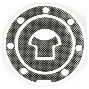 Adesivo Protetor Bocal Tampa Tanque Fibra de Carbono