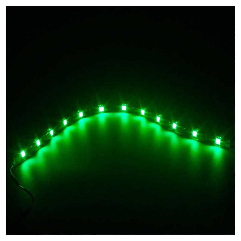 Fita Adesiva 12 Led Smd 5050 Flexível 30cm - Verde