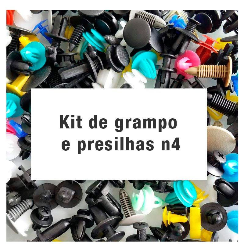 Kit de grampo e presilhas n4