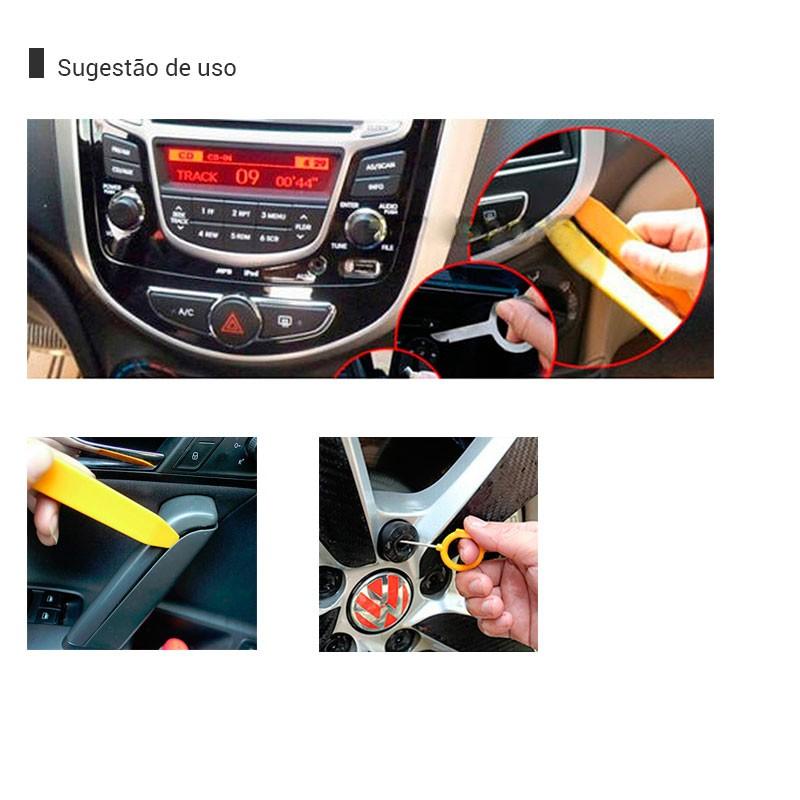 Kit Ferramenta Desmontar Radio Painel Porta Carro 12 Peças