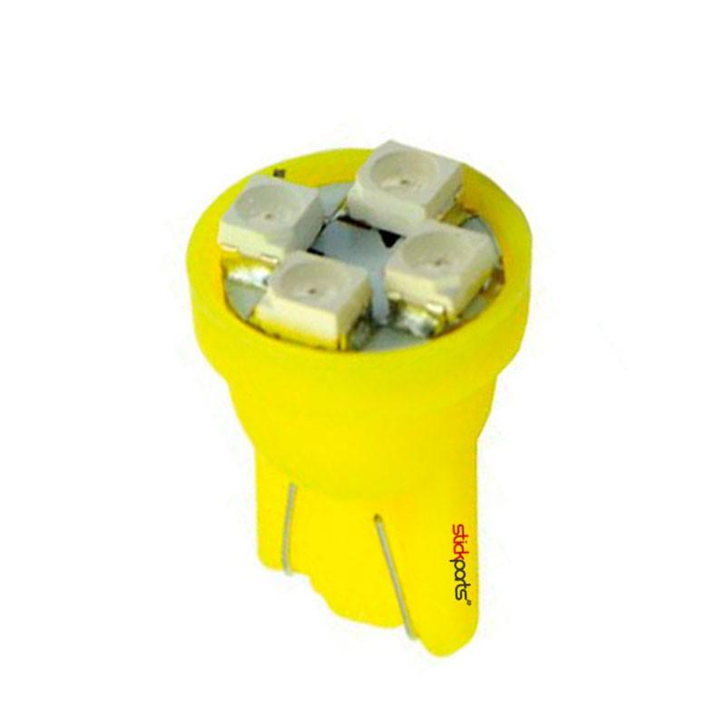 Lâmpada Pingo T10 W5w 4 Leds Smd 3528 Amarelo