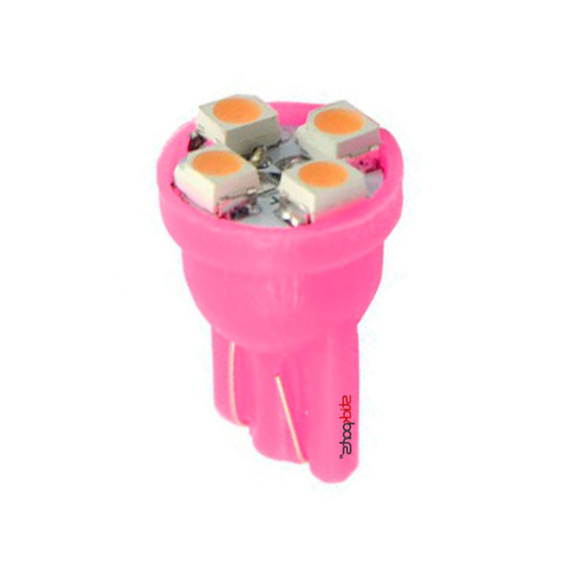 Lâmpada Pingo T10 W5w 4 Leds Smd 3528 Rosa