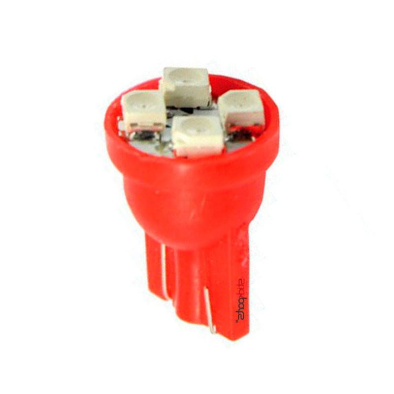 Lâmpada Pingo T10 W5w 4 Leds Smd 3528 Vermelho