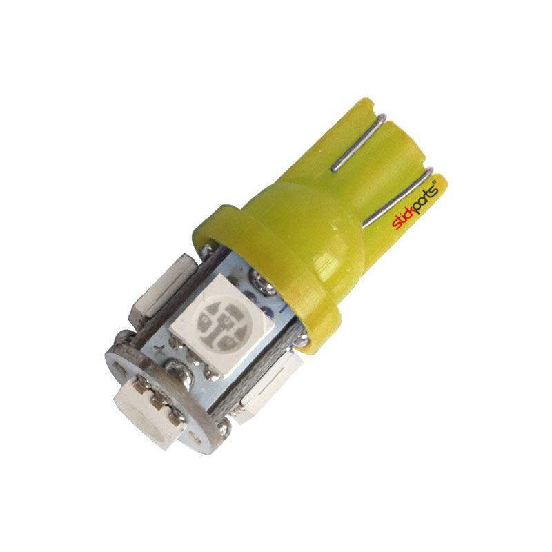 Lâmpada Pingo T10 W5w 5 Leds Smd 5050 Amarelo
