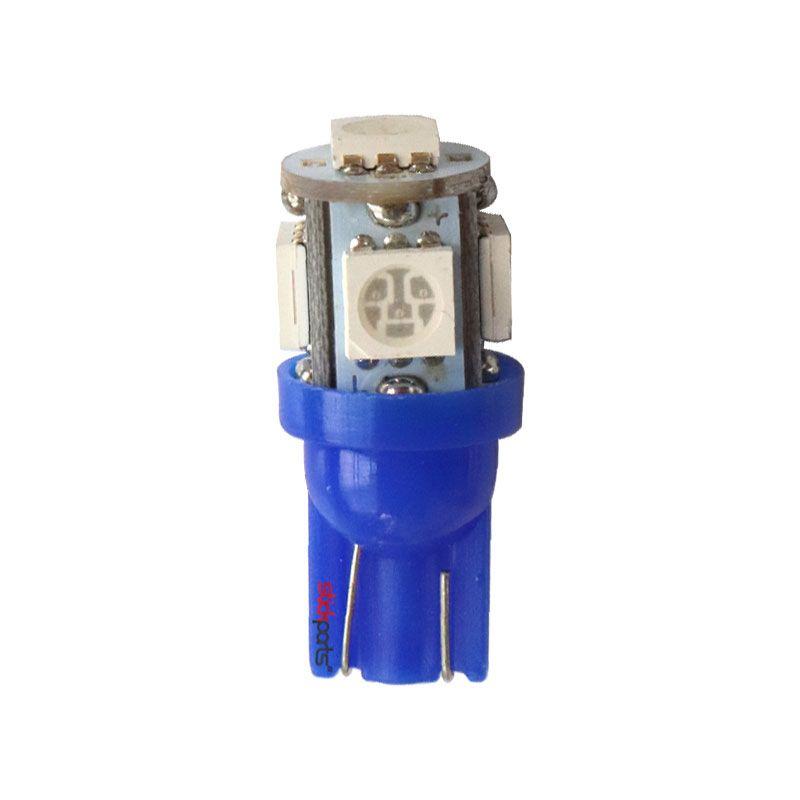 Lâmpada Pingo T10 W5w 5 Leds Smd 5050 Azul