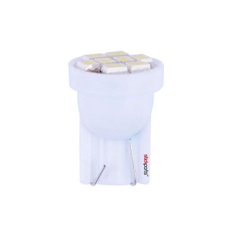 Lâmpada Pingo T10 W5w 8 Leds Smd 1210 Branco
