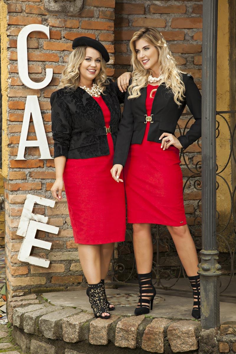 1964- Vest: Plus Size Cotelê c/ Casaco Alfaiataria Flocado