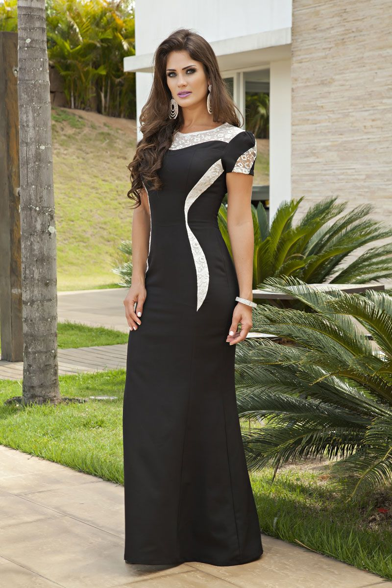 2137- Vest: longo em alfaiataria c/ forro det. em renda bordada