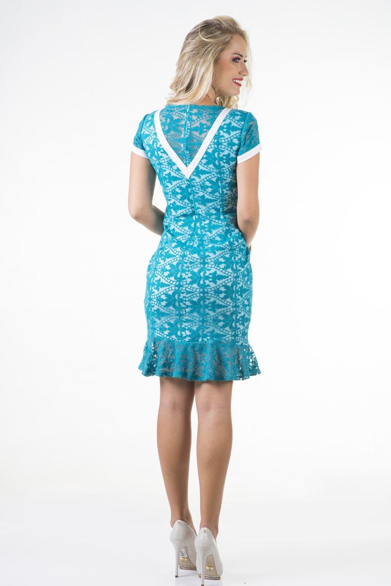 1658-Vestido renda c/ bordado