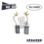 Escova de Carvão Furadeira Bosch SZ 40 -1121/  3250 /1328 /11206  (10 PARES)