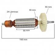"Induzido (Rotor) para esmerilhadeira makita Ga4530 4 1/2"" 160mm"