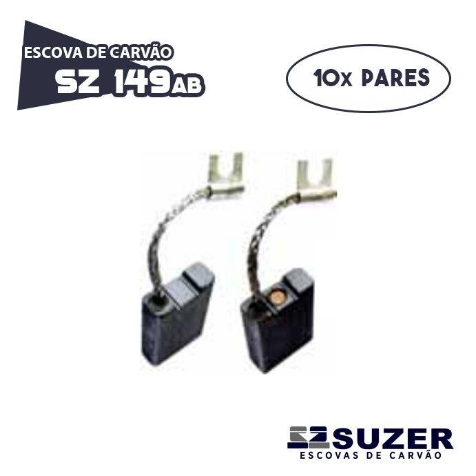 Escova de Carvão Martelo Bosch 11304 GSH 27 - SZ 149AB (10 PARES)
