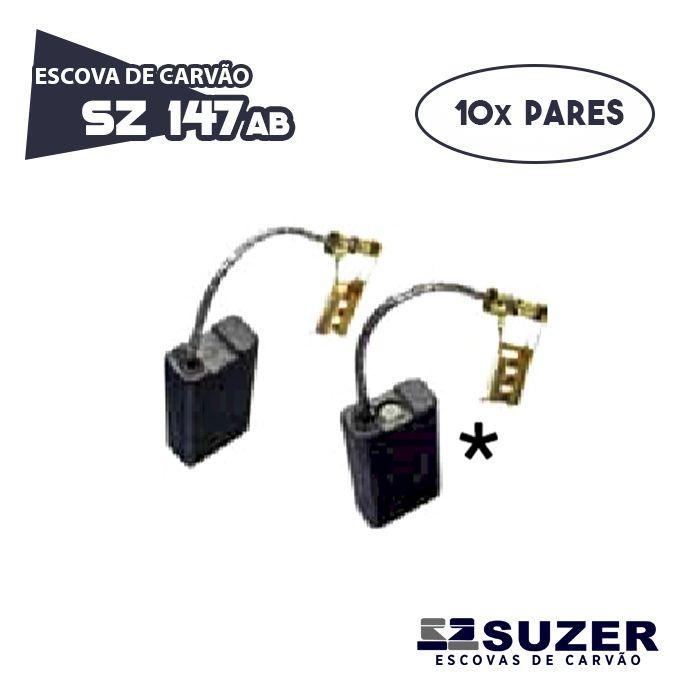 Escova de Carvão Martelo Bosch SZ147 A/B - 11216 / 11227 (10 PARES)