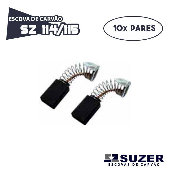 Escova de Carvão Serra Circular Makita 4100H/ 5800H - SZ 114/115/ CB 100 (10 PARES)