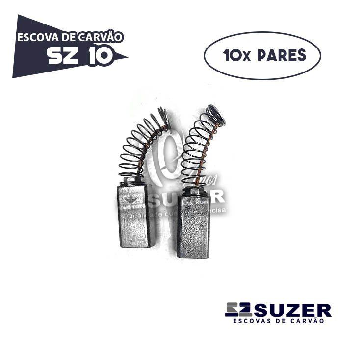 Escova de Carvão Super Hobby Bosch 1182 SZ 10A (10 PARES)