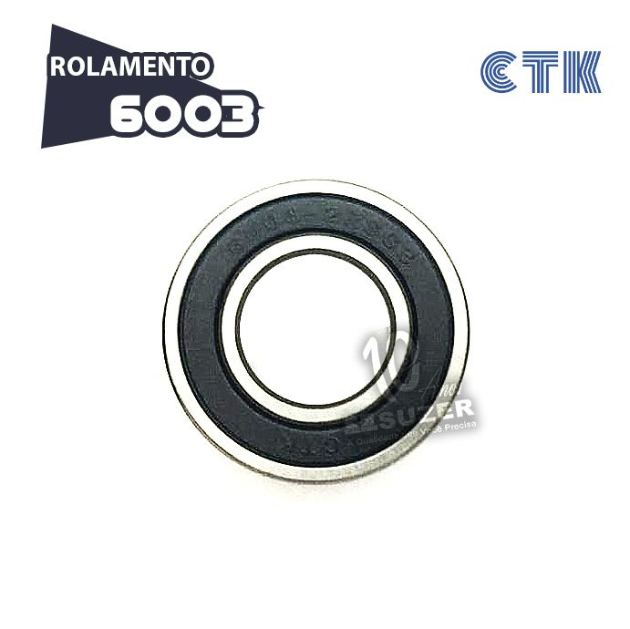 KIT 10 UNID - Rolamento 6003 C3 - CTK