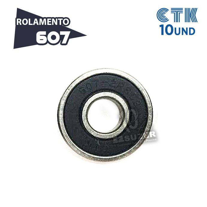 KIT 10 UNID - Rolamento 607 C3 - CTK