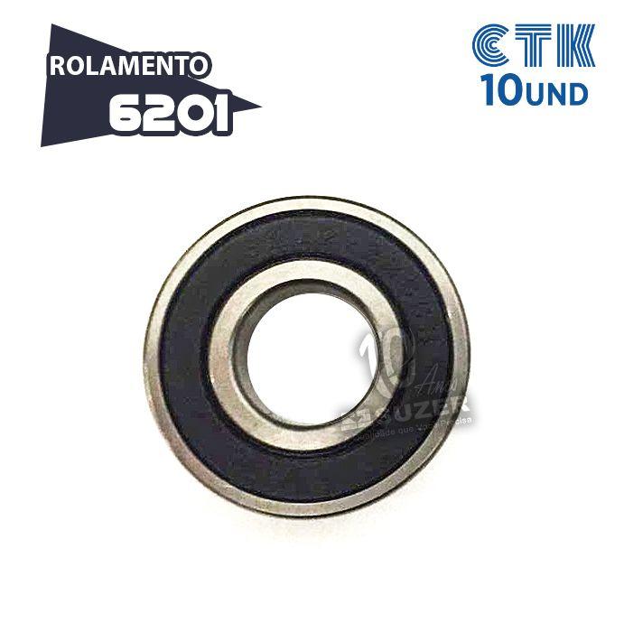 KIT 10 UNID - Rolamento 6201 C3 - CTK