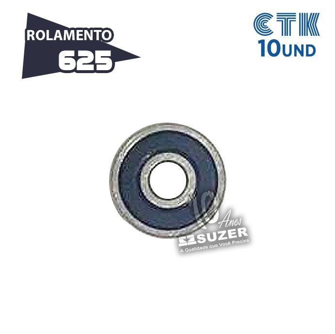 KIT 10 UNID - Rolamento 625 C3 - CTK